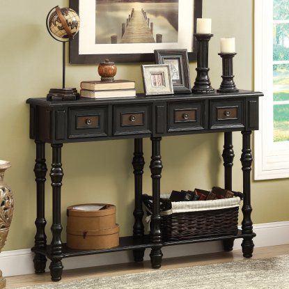 Monarch I 388 48 in. Veneer Traditional Console Table