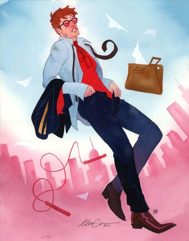 kevin wada illustration: Matt Murdock Quick-change fashionization NYCC 2015...