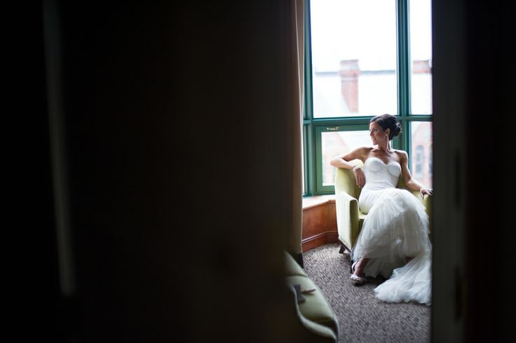 Bride is wearing Inbal Dror designer gown