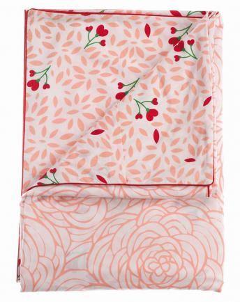 Bettdeckenbezug ROMANTIC (140x200) in rosa