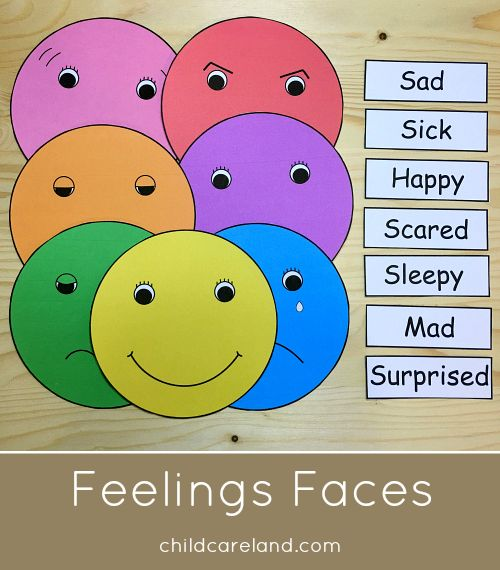 Many of you have requested my feelings faces that I use at group time ... they are now available on my site.