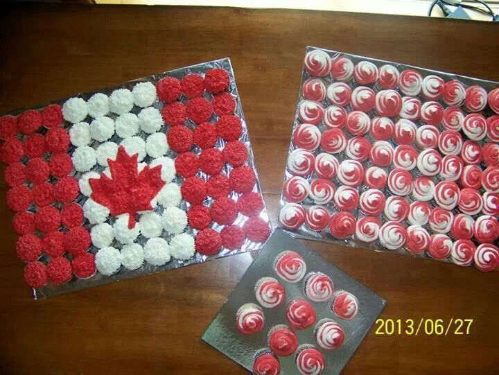 Canada day cupcakes