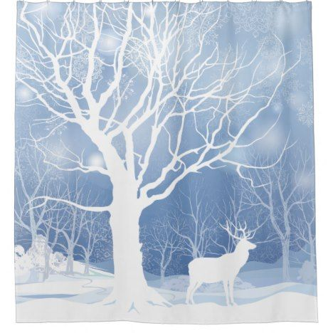 Lone Buck Elk in the Snow Shower Curtain Check out this wonderful shower curtain. Get something different than what is in the store. #showercurtain #bathroomdecor #bathroomideas