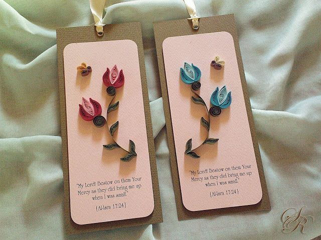 Simple Rhyme - Quilled bookmarks