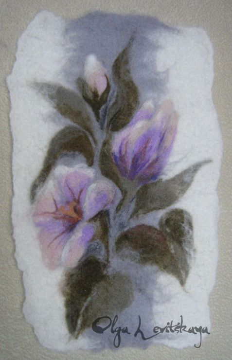 "Gallery.ru / ПАННО ""ЭЛЕГИЯ"" - FIRST STEPS IN FELTING - renew"