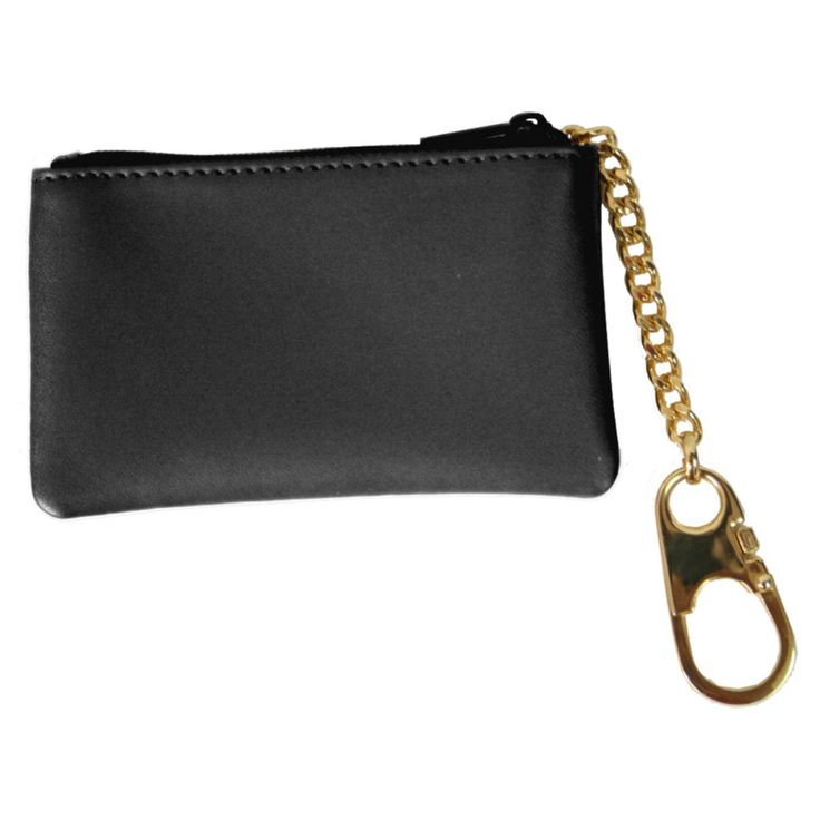 Royce Leather Genuine Leather Slim Coin and Key Holder Wallet - 605-BLACK-5