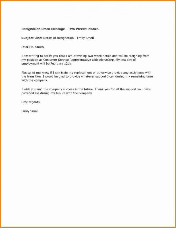 How To Write A Two Week Notice template Writing, Letter