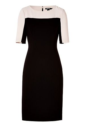 From Dress the Part: HBO's The Newsroom  DKNY two-tone dress in Black, $465