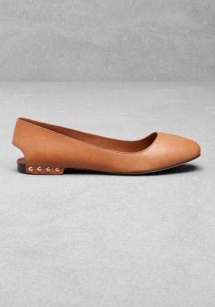 Open Heel Ballerina Flats