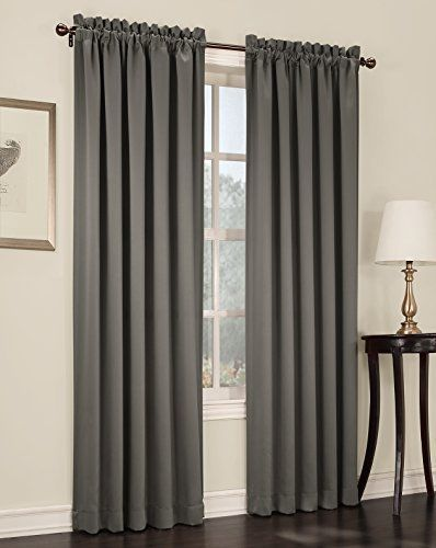 Sun Zero Barrow Energy Efficient Rod Pocket Curtain Panel, 54 x 84 Inch, Steel   Home & Garden, Window Treatments & Hardware, Curtains, Drapes & Valances   eBay!