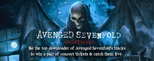 Download and win a pair of tickets to catch Avenged Sevenfold LIVE in Singapore!! Wooooo hooooooo!!