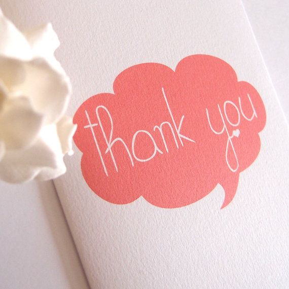 This cute thank you card features a cloud speech bubble and a little tiny love heart. This listing is for a pack of 25 #thankyou #card #etsy #etsyau #cardpack #gift