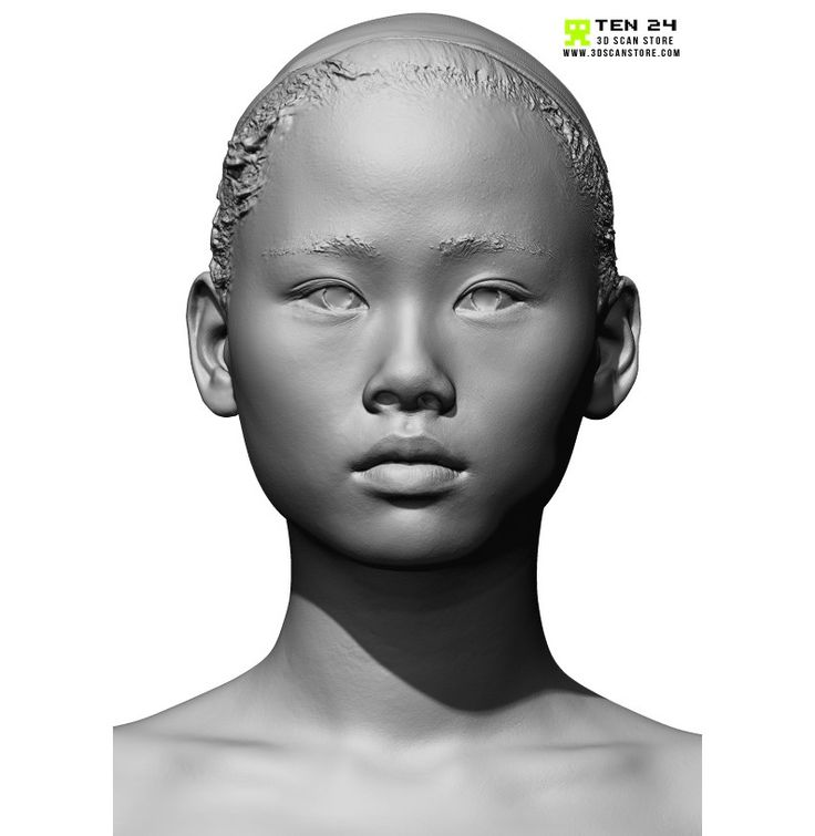 Female 11 Head Scan Cleaned