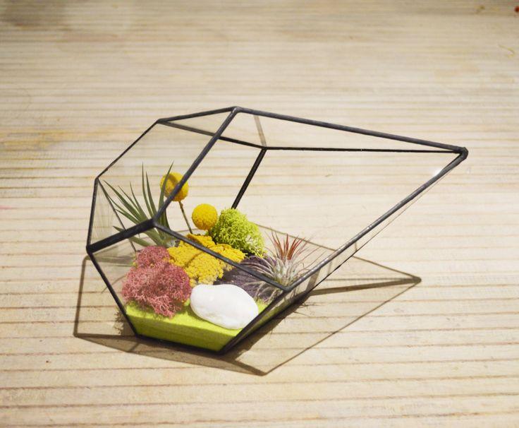 Items Similar To Large Glass Terrarium / Glass Planter / Geometric  Terrarium / Succulent / Air Plant On Etsy