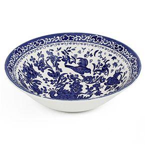 Burleigh Blue Regal Peacock Cereal Bowl