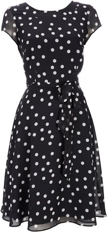 Black Polka Dot Dress