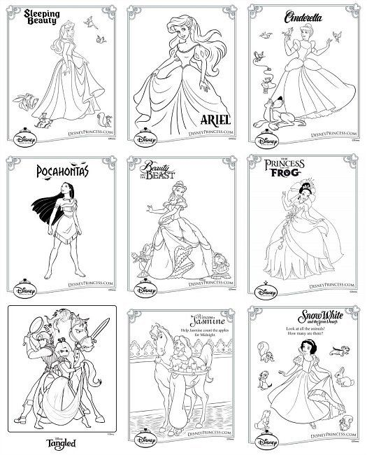 Disney Princess Coloring Pages - Free Printable Download. X