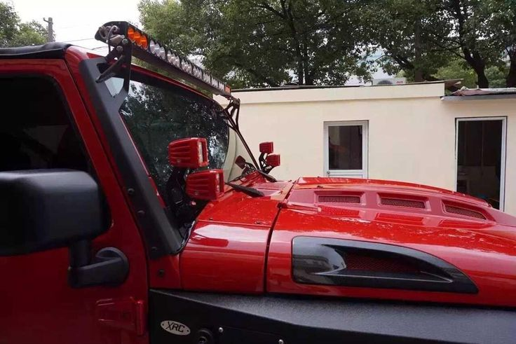 Avenger Hood For Jeep Wrangler Jk With Carbon Fiber Vents