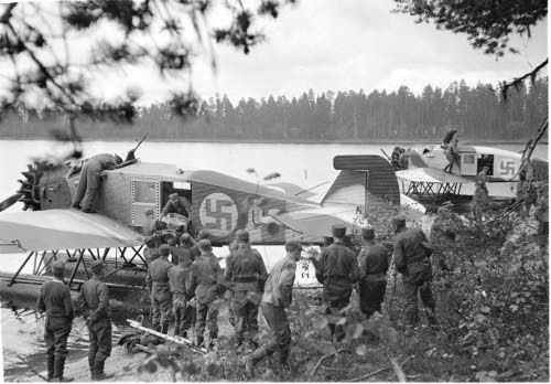 WWI & WWII Military Historian. — bmashina: The evacuation of the wounded to float...The evacuation of the wounded to float the Junkers K-47 Finnish air force