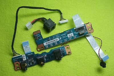 Toshiba Qosmio Laptop F30 Audio Panel + Front Light Panel + Power Plug + Mic