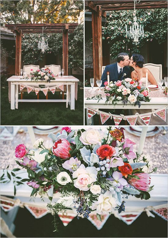 Marsala-inspired shoot featured on Wedding Chicks! Photographer-Chris Wojdak #styledshoot (sweetheart table)
