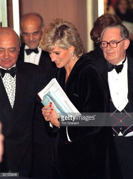 LONDON, UNITED KINGDOM - MARCH 07: Princess Diana With Mohammed Al Fayed At Harrods To Attend A Dinner In Aid Of Harefield Hospital's Heart Science Centre's Research Programme