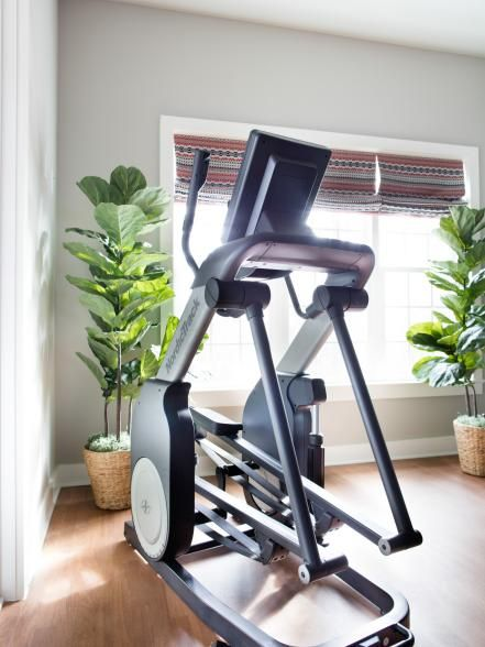The exercise room's elliptical trainer combines the workout benefits of climbing stairs and cross-country skiing into one machine, with a screen that allows you to watch TV or surf the web.