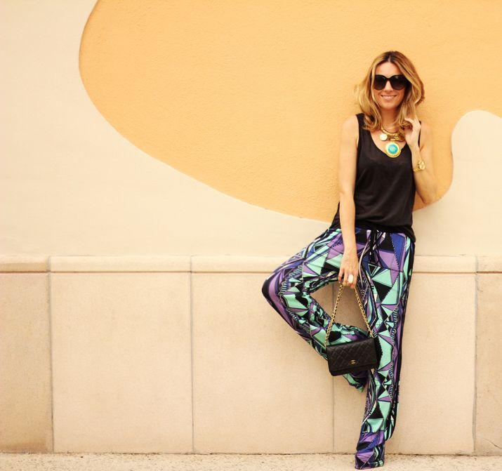 PRINTED SUMMER PANTS | DIOR AND I - Fashion Blog Barcelona | Mes Voyages à Paris