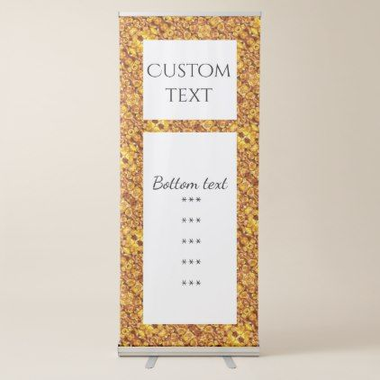Dried Yellow Corn 1025 Retractable Banner - autumn gifts templates diy customize