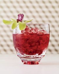 Brambles mix gin and muddled dark berries over crushed ice. Super refreshing on a hot day.
