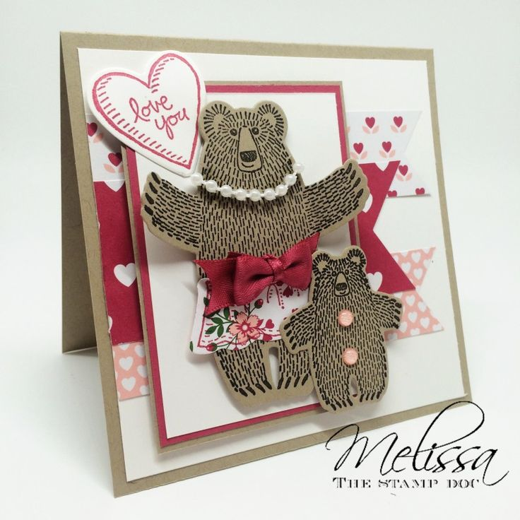 Love You Baby Bear by mstout928 - Cards and Paper Crafts at Splitcoaststampers