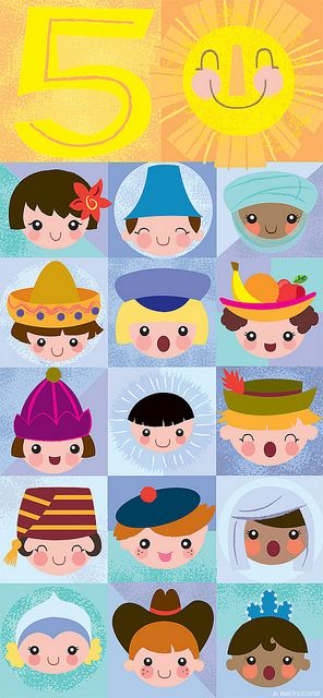happy 50th, small world!! by Jill Howarth
