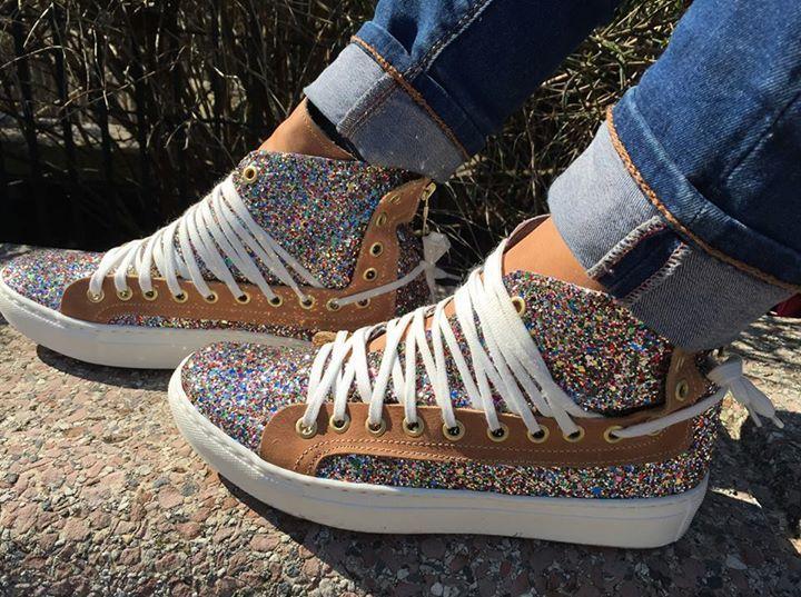 Scarpe artigianali italia glitter