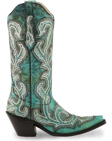 Corral Women's Shaded & Studded Cowgirl Boots - Snip Toe - Country Outfitter