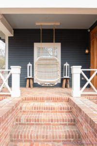 Front Porch Swinging'- Sharing an update on our front porch and our new front porch swing!