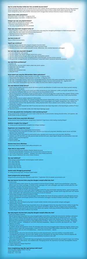 #Lomba #LombaMenulis #ArtikelJurnalistik #FotoJurnalistik #AsuransiAstra Lomba Penulisan Artikel dan Foto Jurnalistik 2015 Asuransi Astra Berhadiah Total 45 Juta Rupiah  DEADLINE: 2 September 2015  http://infosayembara.com/info-lomba.php?judul=lomba-penulisan-artikel-dan-foto-jurnalistik-2015-asuransi-astra-berhadiah-total-45-juta-rupiah