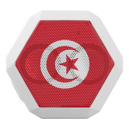 #Tunisia Flag White Bluetooth Speaker - #country gifts style diy gift ideas