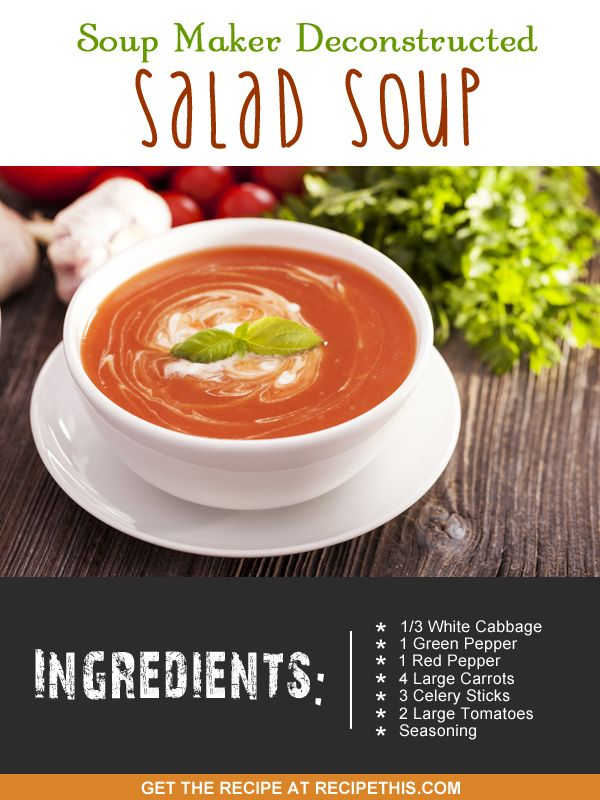 soup maker recipes | soup maker deconstructed salad #soup