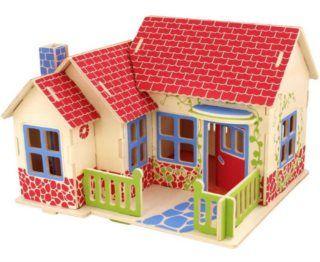 ROBOTIME 3D dřevěné puzzle Farmářský domek 27 dílků barevný