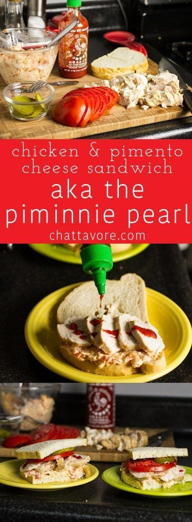 """This chicken & pimento cheese sandwich is affectionately named """"The Piminnie Pearl"""" (Southern lady with a kick) 