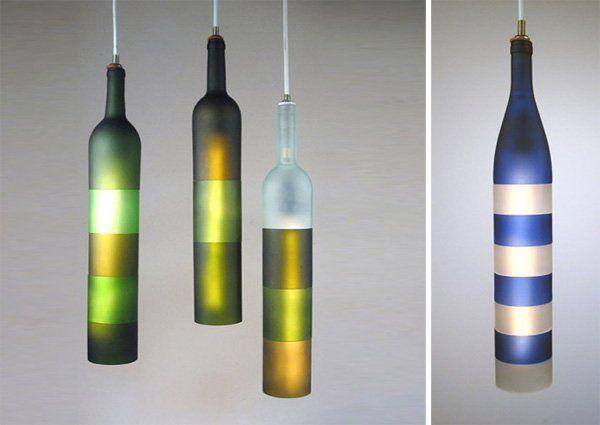 1 homemade modern chandeliers http://hative.com/creative-wine-bottle-chandelier-ideas/
