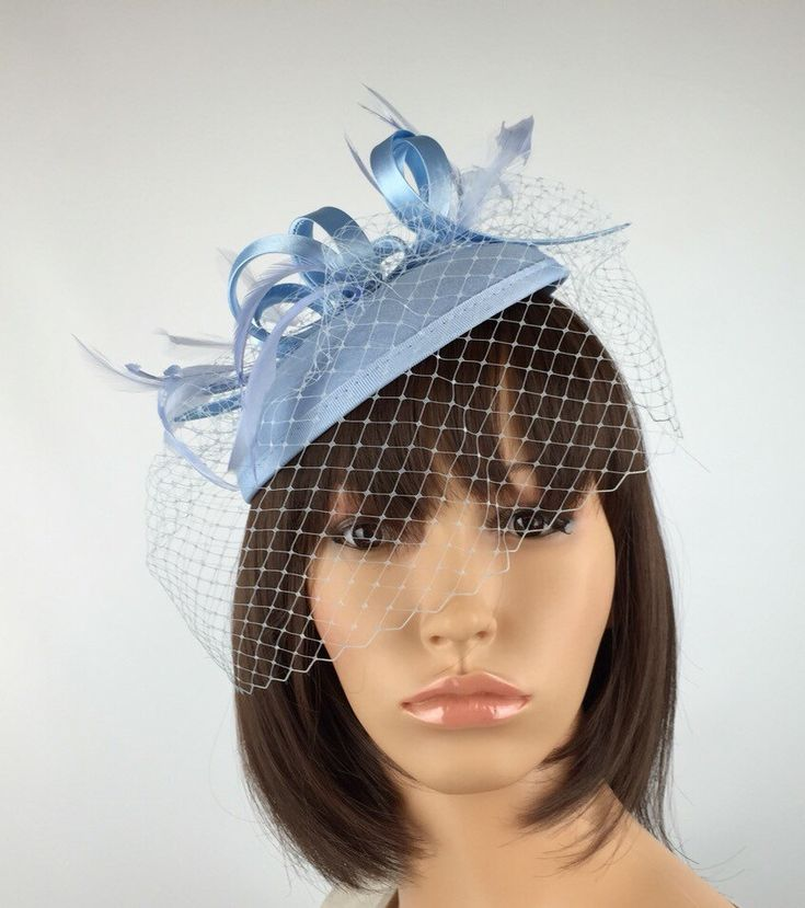 A personal favourite from my Etsy shop https://www.etsy.com/uk/listing/386545226/pale-blue-fascinator-baby-blue