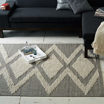 Maybe layered over Stanton Carpet(Alta) from Encore.  Finn Wool Shag Rug #weste
