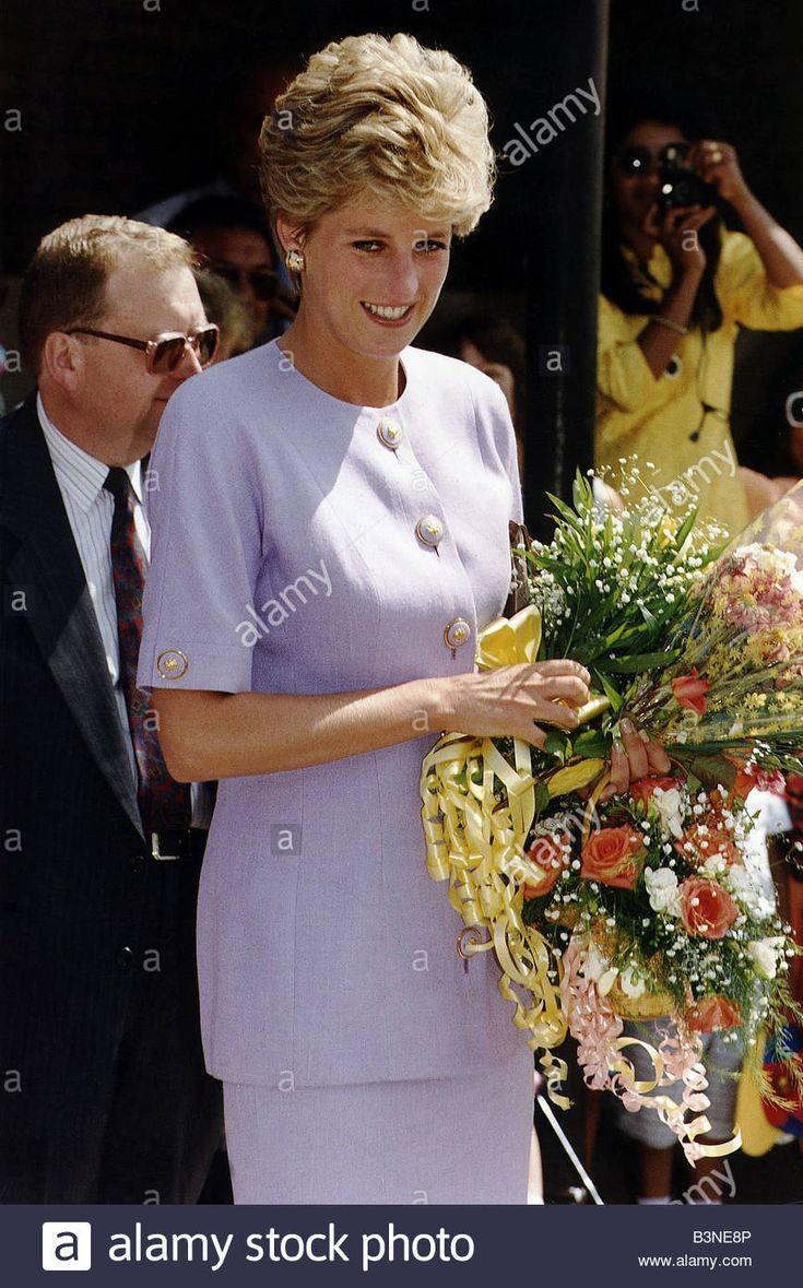 Princess Diana Visits Broadwater School In Tooting July 1993