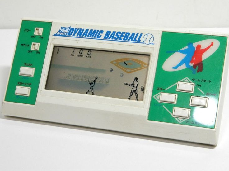 Epoch LCD Handheld Game Action Sports Dynamic Baseball MIJ 1984 Great Condition #Epoch