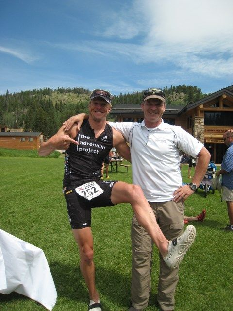 XTerra Pro Will Kelsay celebrates in his Barefooters.