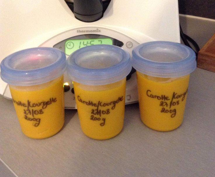 Recette Purée carottes / courgettes. par Clémence2137 - recette de la catégorie Alimentation pour nourrissons