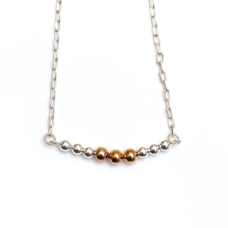 xada jewellery - Copper and silver beaded Bar necklace, $25.95 (http://www.xadajewellery.com/shop-by-collection/copper-and-silver-beaded-bar-necklace/)