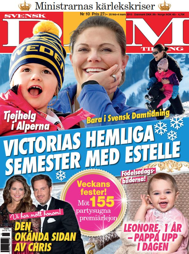 Crown Princess Victoria an a vacation with Princess Estelle, in the alps… Read more at www.svenskdam.se