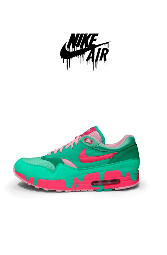 Tumblr shoe-pornn: Nike Air Max 1-Paint Drip.